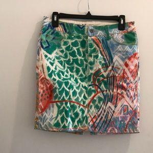 Anthropologie artist canvas series pencil skirt 25